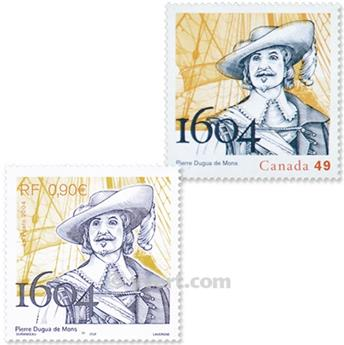 2004 - Joint issue-France-Canada-(mounts)