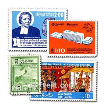 CEYLAN : Pochette de 100 timbres
