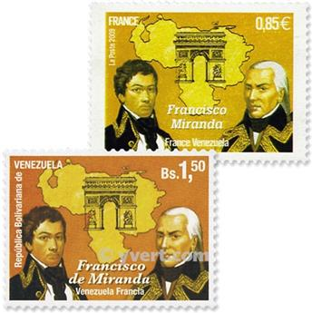 2009 - Joint issue-France-Venezuela