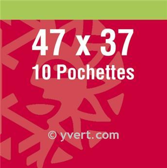 Pochettes double soudure - Lxh:47x37mm (Fond noir)