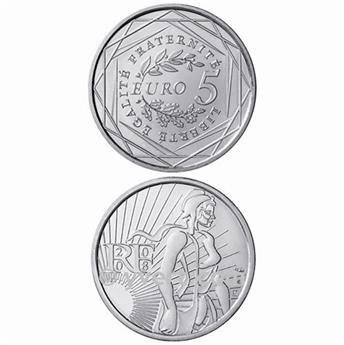 5 EUROS PLATA FRANCIA - 2008
