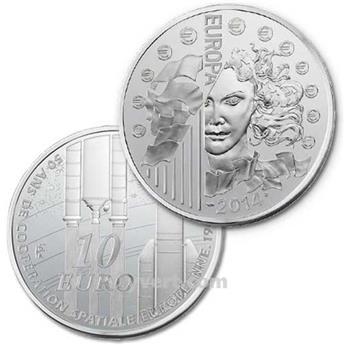 PRF : 10 EUROS PRATA - FRANÇA 2014 - EUROPA