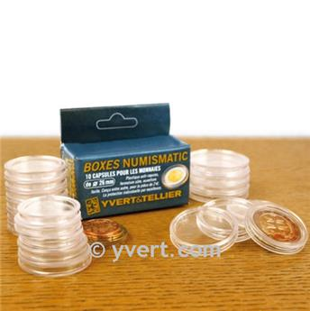 CAPSULES: 23 mm - FOR 1 EURO