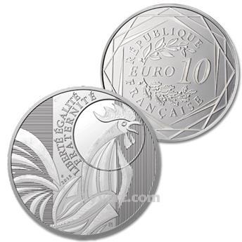 BE : 10 EUROS ARGENT - FRANCE 2015 - LE COQ