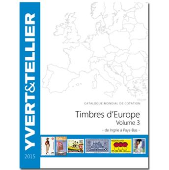 EUROPE Volume 3 - 2015 (Catalogue des timbres des pays d´Europe de I à P)