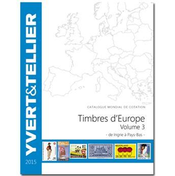 EUROPE Volume 3 - 2015 (Catalogue des timbres des pays d´Europe de I à P)