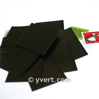 Pochettes simple soudure - Lxh:86x220mm (Fond noir)