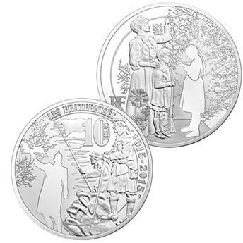 10 EUROS PLATA - FRANCIA - GRAN GUERRA 14-18 - PRF 2015