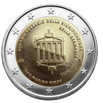 BU : 2 EURO COMMEMORATIVE 2015 : SAINT-MARIN (RÉUNIFICATION ALLEMANDE)