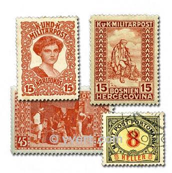 BOSNIA: lote de 25 sellos