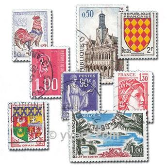 FRANÇA: lote de 800 selos