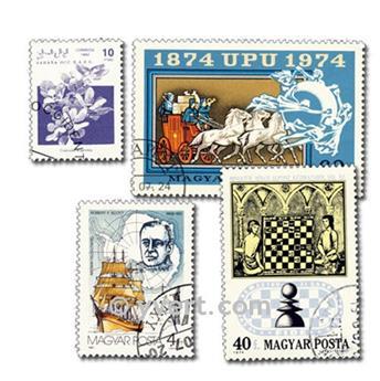 MONDE ENTIER : pochette de 500 timbres