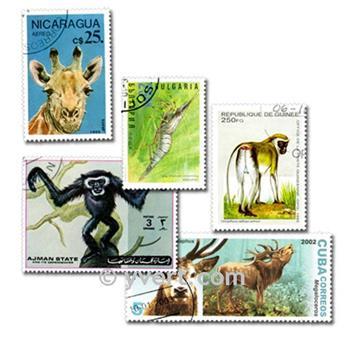 ANIMAIS: lote de 500 selos