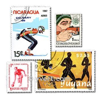 SPORTS : pochette de 1000 timbres