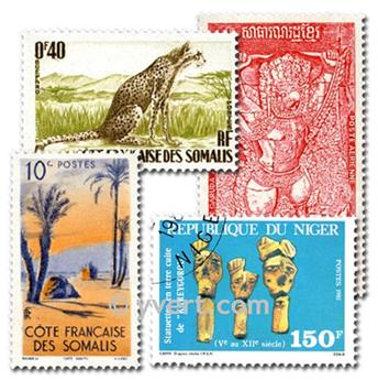 COMUNIDAD FRANCESA: lote de 300 sellos