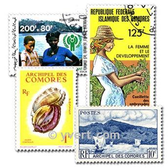 COMORAS: lote de 50 sellos