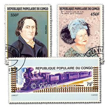 CONGO FRANCAIS : pochette de 200 timbres