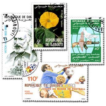 DJIBOUTI : pochette de 100 timbres