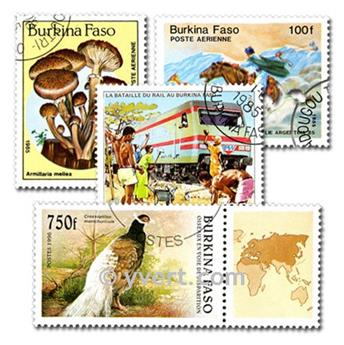 BURKINA: envelope of 50 stamps