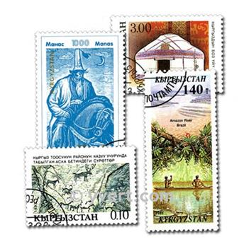 KYRGYZSTAN: envelope of 50 stamps