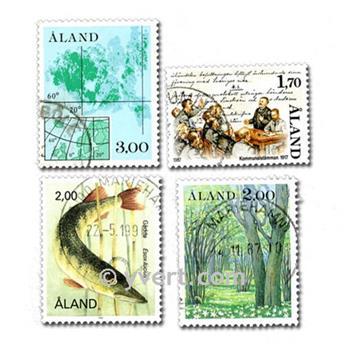 ISLAS ÅLAND: lote de 10 sellos