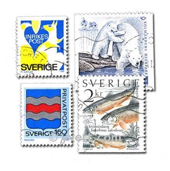 SUECIA: lote de 400 sellos