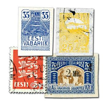 ESTONIA: envelope of 50 stamps