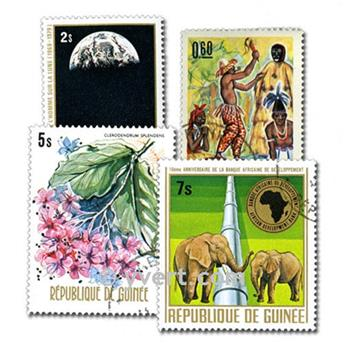 GUINEA: envelope of 400 stamps