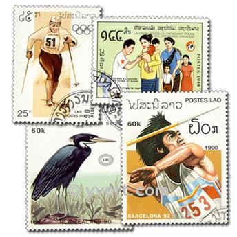 LAOS : pochette de 200 timbres
