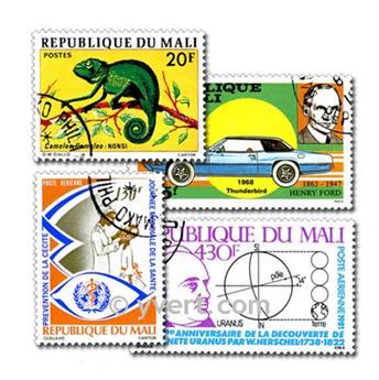 MALI: lote de 100 selos