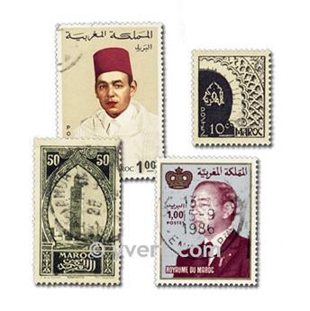MARRUECOS: lote de 300 sellos