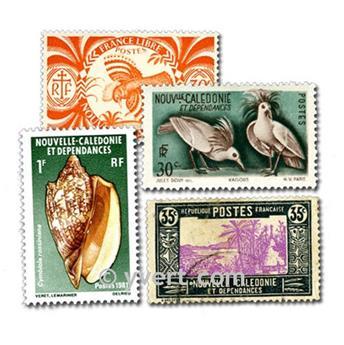 NOUVELLE CALEDONIE : pochette de 50 timbres
