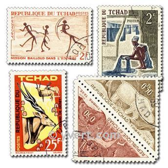 CHAD: Lote de 300 sellos