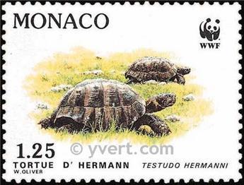 n° 1805/1808f (folha) -  Selo Mónaco Correios