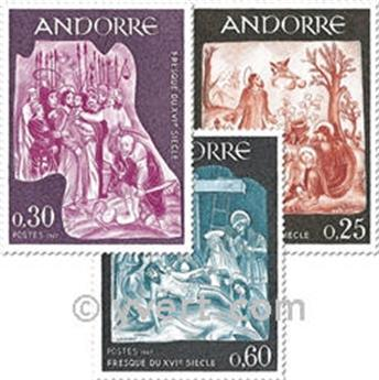 nr. 184/186 -  Stamp Andorra Mail