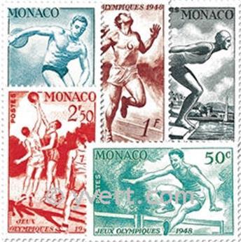 n° 319/323 -  Timbre Monaco Poste