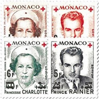 n° 379A/382A -  Timbre Monaco Poste