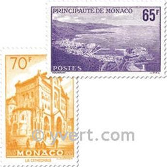 n° 487/488 -  Selo Mónaco Correios
