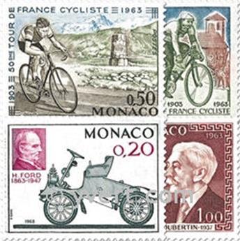 n° 632/635 -  Selo Mónaco Correios
