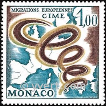 n° 728 -  Timbre Monaco Poste
