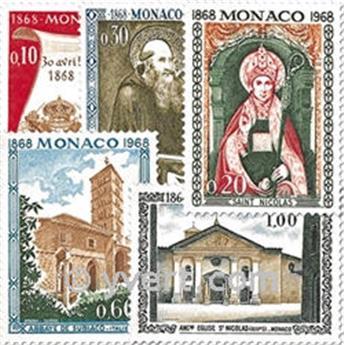 n° 744/748 -  Timbre Monaco Poste
