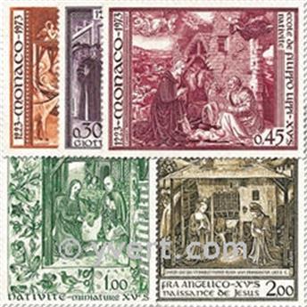 n.o 934/938 -  Sello Mónaco Correos