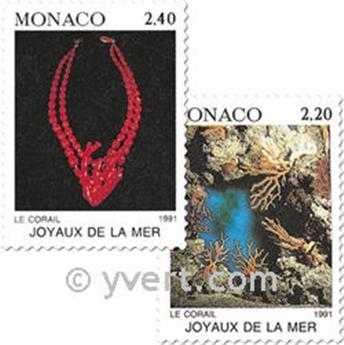 n° 1774/1775 -  Selo Mónaco Correios