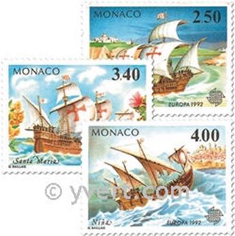 n.o 1825/1827 -  Sello Mónaco Correos