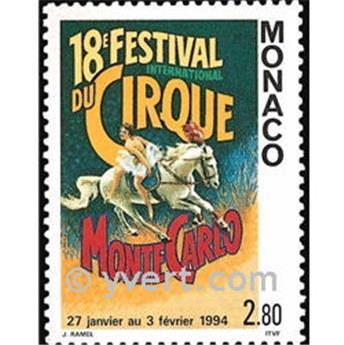 n° 1923 -  Timbre Monaco Poste