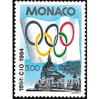 n° 1937 -  Timbre Monaco Poste