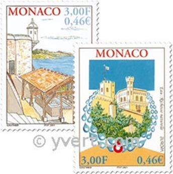 n° 2298/2299 -  Selo Mónaco Correios