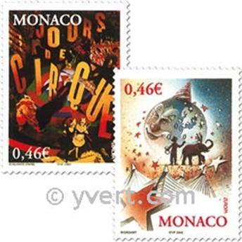 n° 2347/2348 -  Selo Mónaco Correios