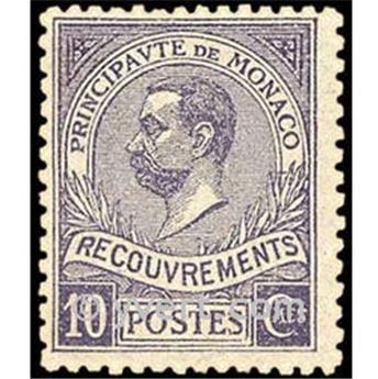 n° 9 -  Selo Mónaco Taxa
