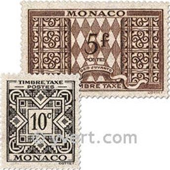 n° 29/39 -  Selo Mónaco Taxa